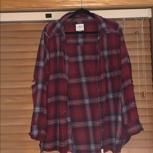 American Eagle Oversized Red Flannel